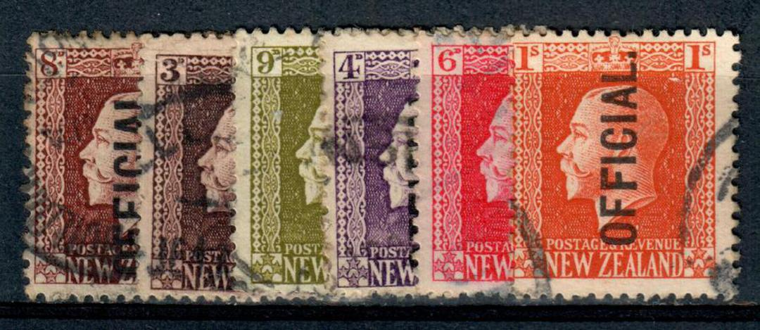 NEW ZEALAND 1915 Geo 5th Officials Recess. Set of 6. The postmarks are definitely substandard. - 4307 - Used image 0