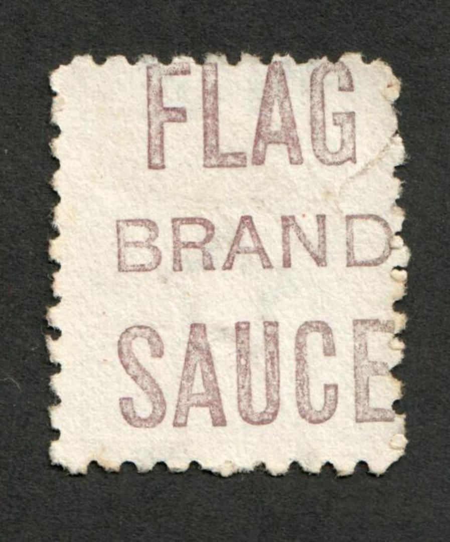 NEW ZEALAND 1882 Victoria 1st Second Sideface 6d Brown. Perf 10. 3rd setting in Mauve. Flag Brand Sauce. Fiscal usage. - 4002 - image 0