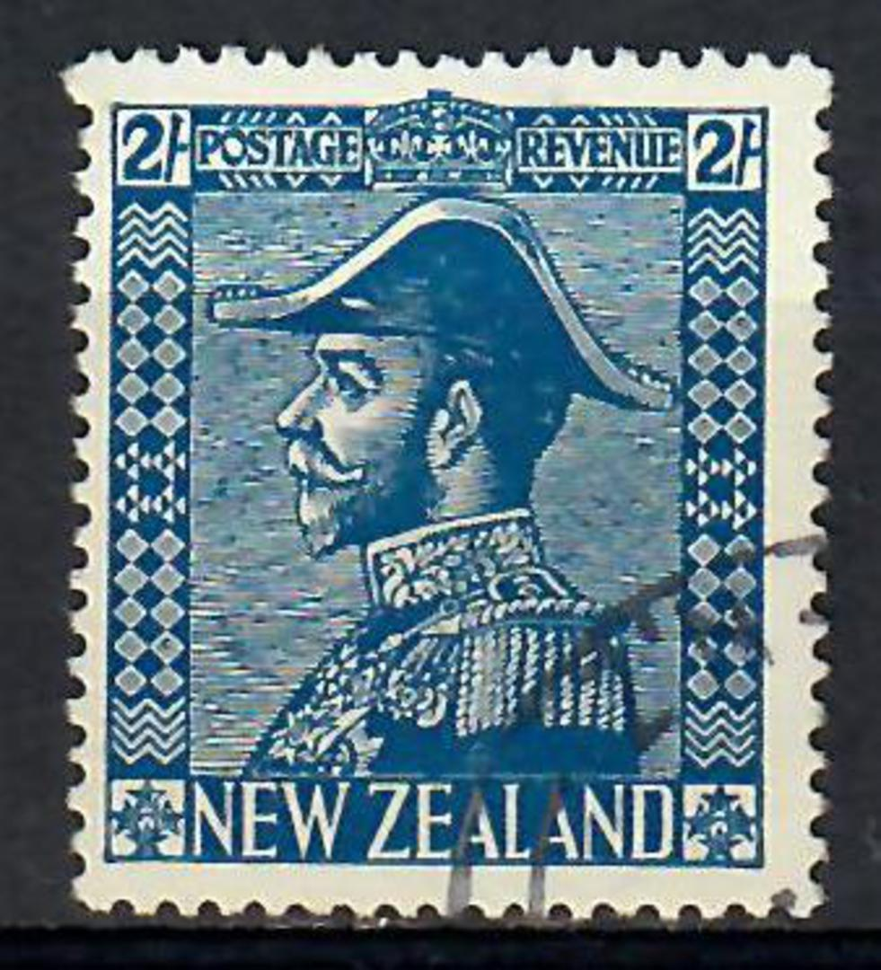 NEW ZEALAND 1926 Geo 5th Definitive  2/- Deep Blue. - 74105 - FU image 0