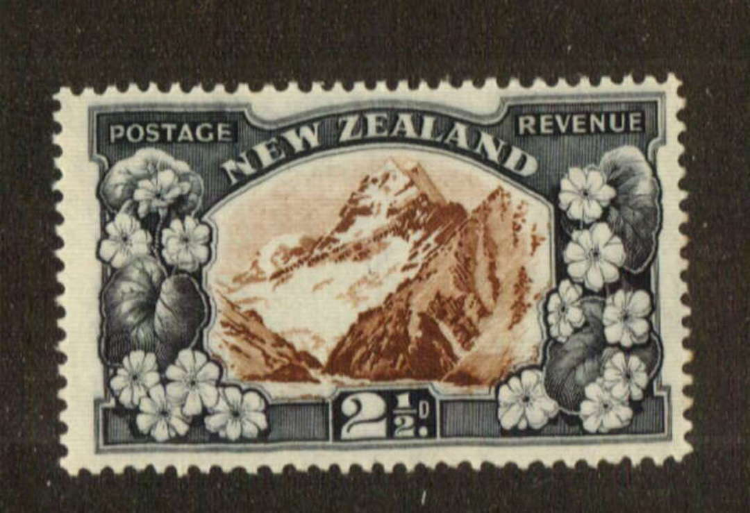 NEW ZEALAND 1935 Pictorial 2½d Mt Cook. Multiple Watermark Perf 14 comb. - 74711 - UHM image 0