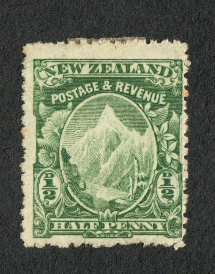 NEW ZEALAND 1898 Pictorial ½d Green. Cowan unwatermarked paper. Perf 14. - 75023 - Mint image 0