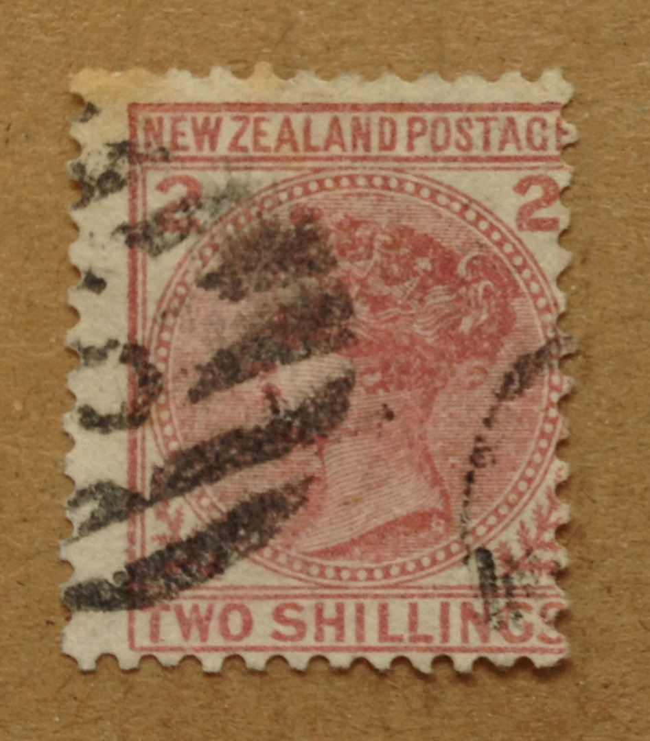 NEW ZEALAND 1874 Victoria 1st First Sideface 2/- Red. - 75001 - FU image 0