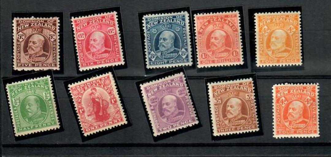 NEW ZEALAND 1909 Edward 7th Definitives. Set of 10. - 20102 - Mint image 0