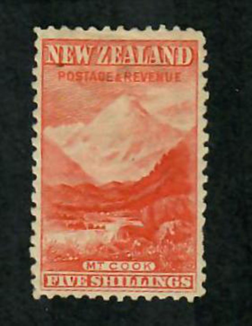 NEW ZEALAND 1898 Pictorial 5/- Orange. Tired. - 74144 - Mint image 0