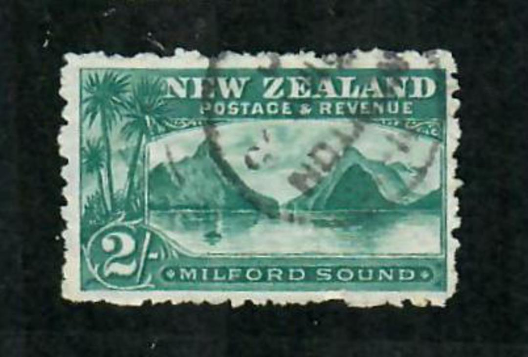 NEW ZEALAND 1898 Pictorial 2/- Milford Sound. Excellent copy with A class NEWTON postmark. - 71616 - FU image 0