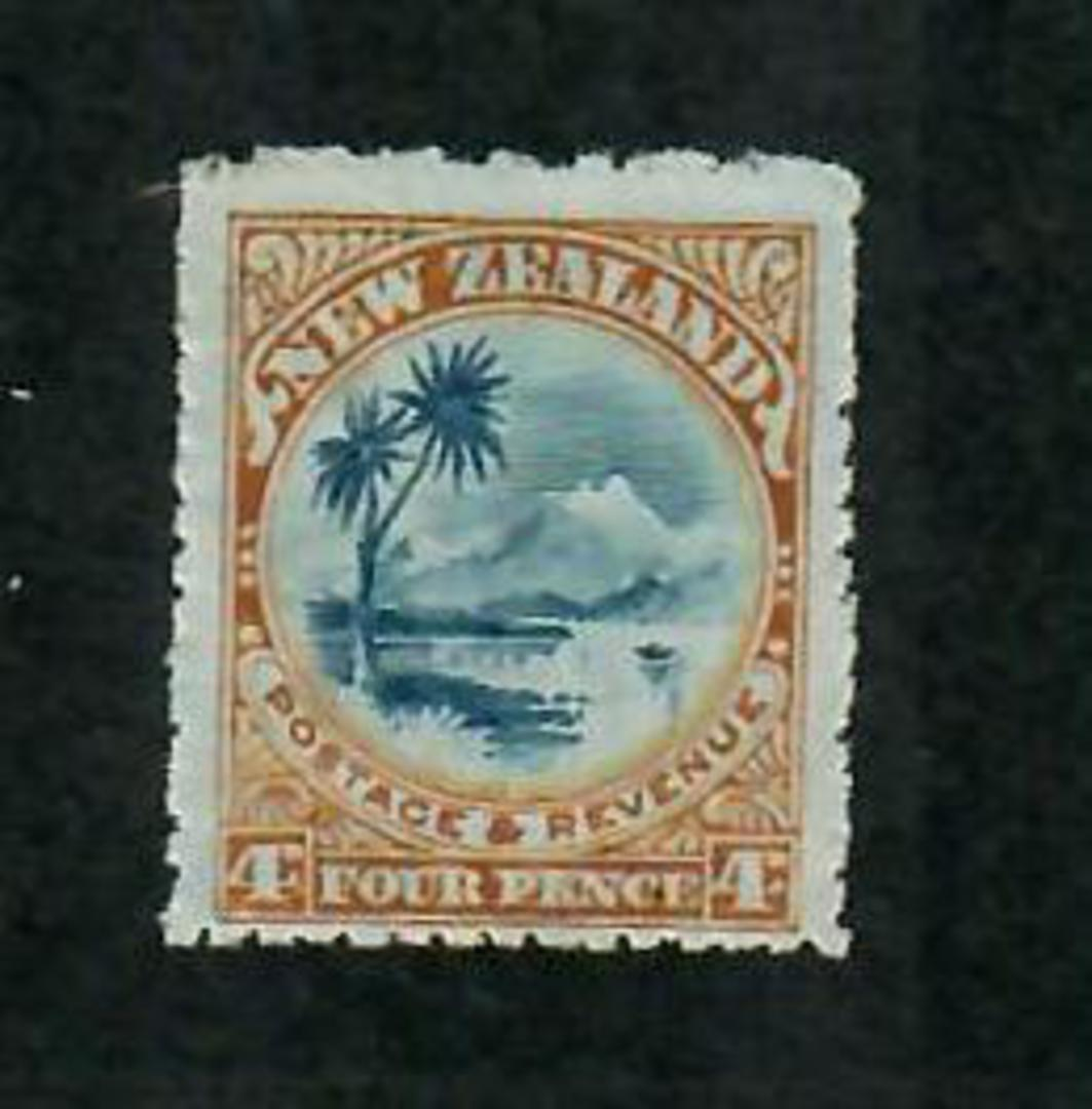 NEW ZEALAND 1898 Pictorial 4d Lake Taupo. Mixed Perfs (Perf 11 used to correct perf 14 inaccuracies. - 74866 - UHM image 0