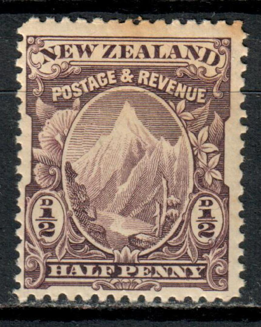 NEW ZEALAND 1898 Pictorial ½d Purple in mint never hinged but toning. - 79452 - UHM image 0