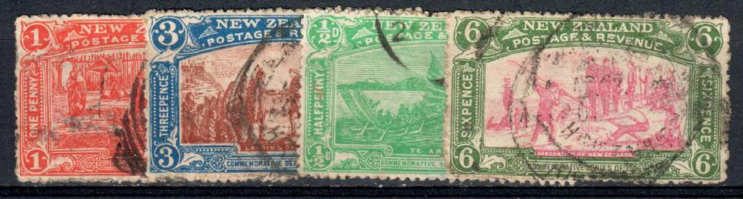 NEW ZEALAND 1906 Christchurch Exhibition. Set of 4. The two top values have unattractive postmarks. - 39981 - Used image 0