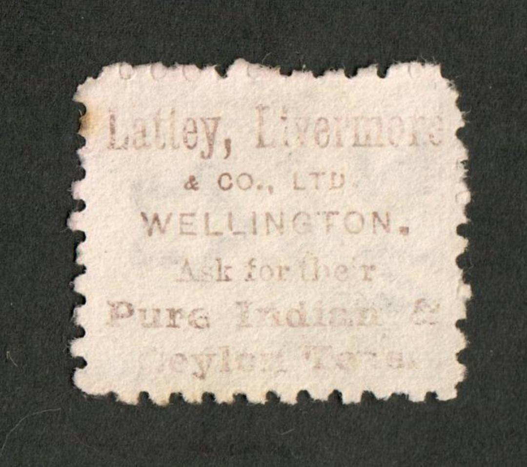NEW ZEALAND 1882 Victoria 1st Second Sideface 4d Green. Second setting in Brown-Red.  Lately Livermore. - 3995 - Used image 0