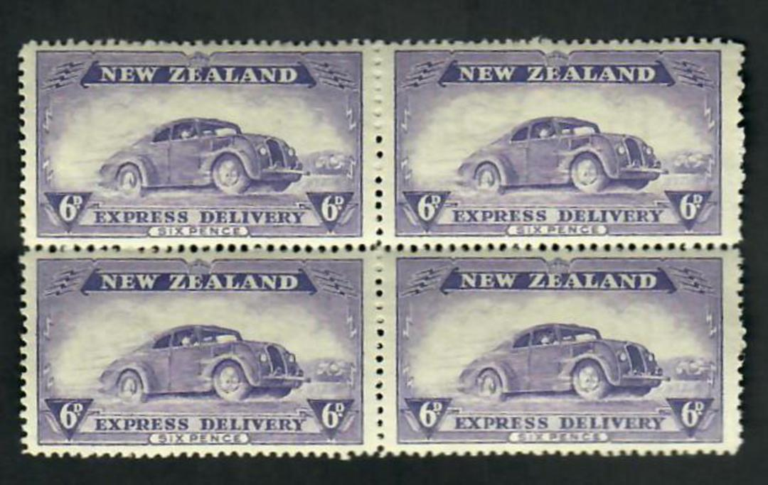 NEW ZEALAND 1939 Express Delivery 6d Purple. - 51058 - UHM image 0
