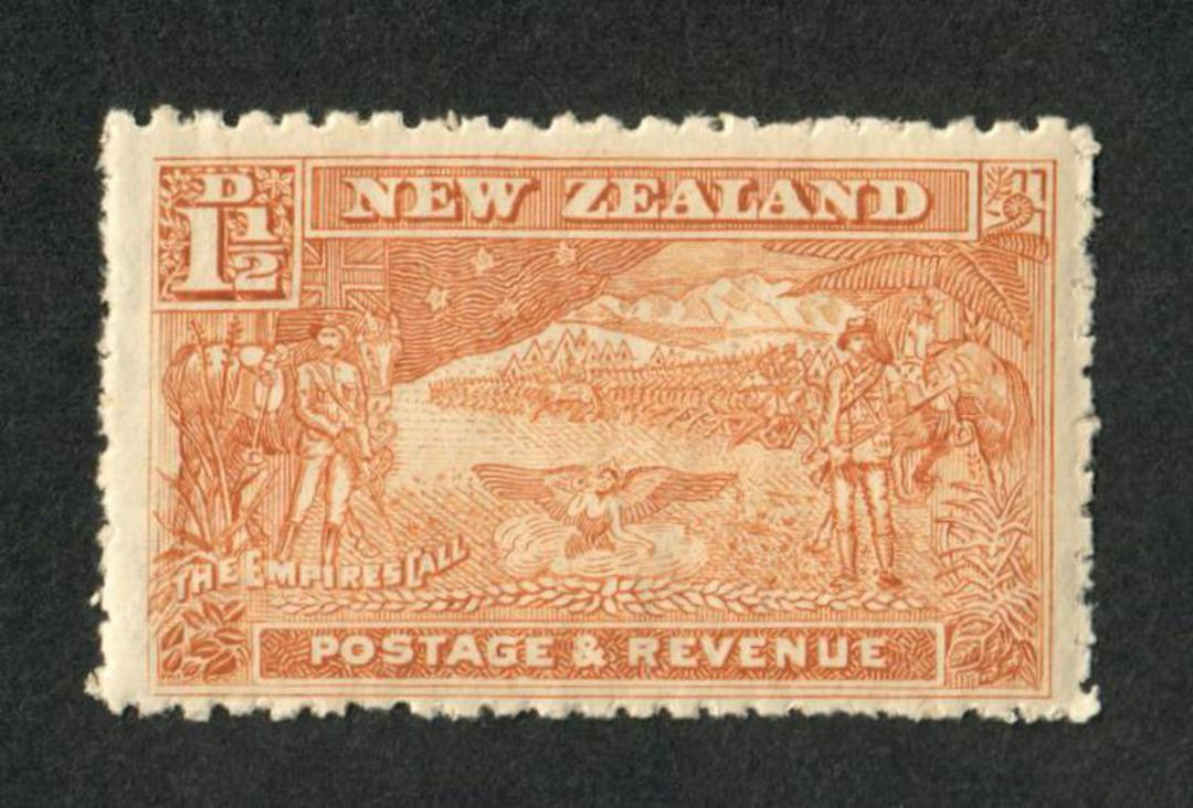NEW ZEALAND 1898 Pictorial 1½d Boer War. - 57 - LHM image 0