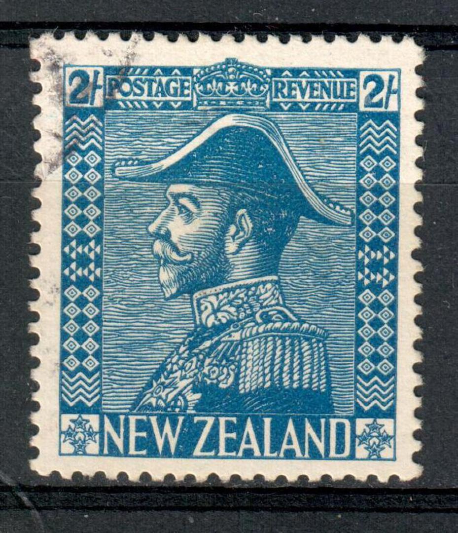 NEW ZEALAND 1926 Geo 5th Admiral Definitive 2/- Blue. - 10142 - FU image 0
