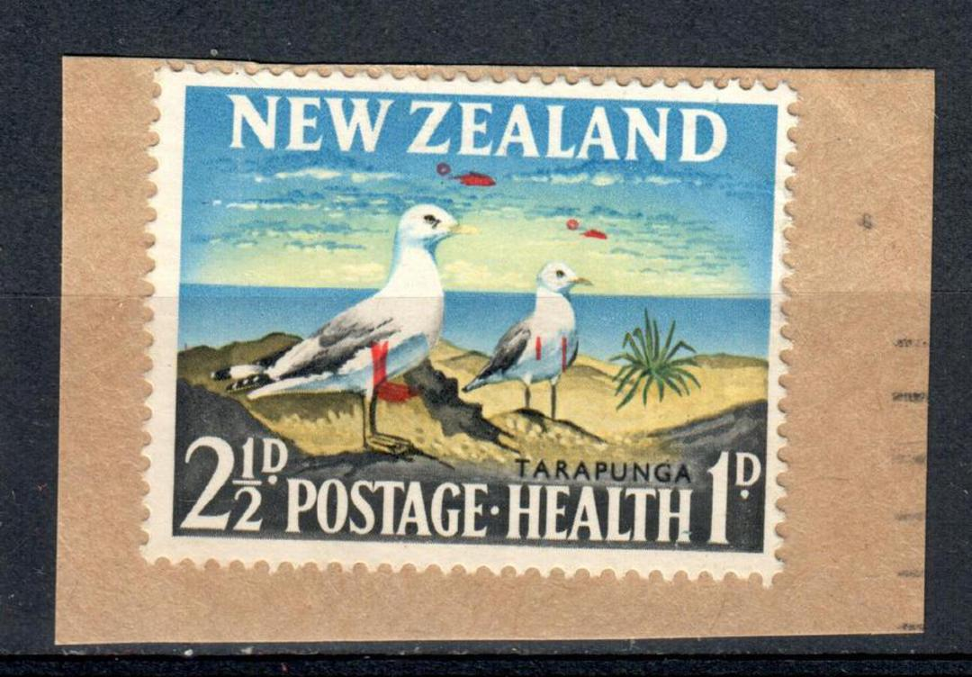 NEW ZEALAND 1964 Health 2½d on piece. Major red colour shift. - 74744 - FU image 0