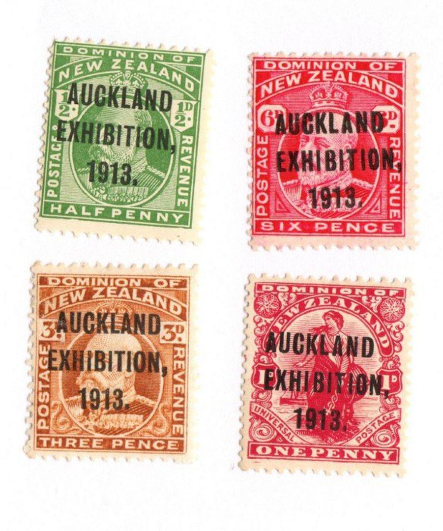 NEW ZEALAND 1913 Auckland Exhibition. Set of 4. - 74056 - UHM image 0