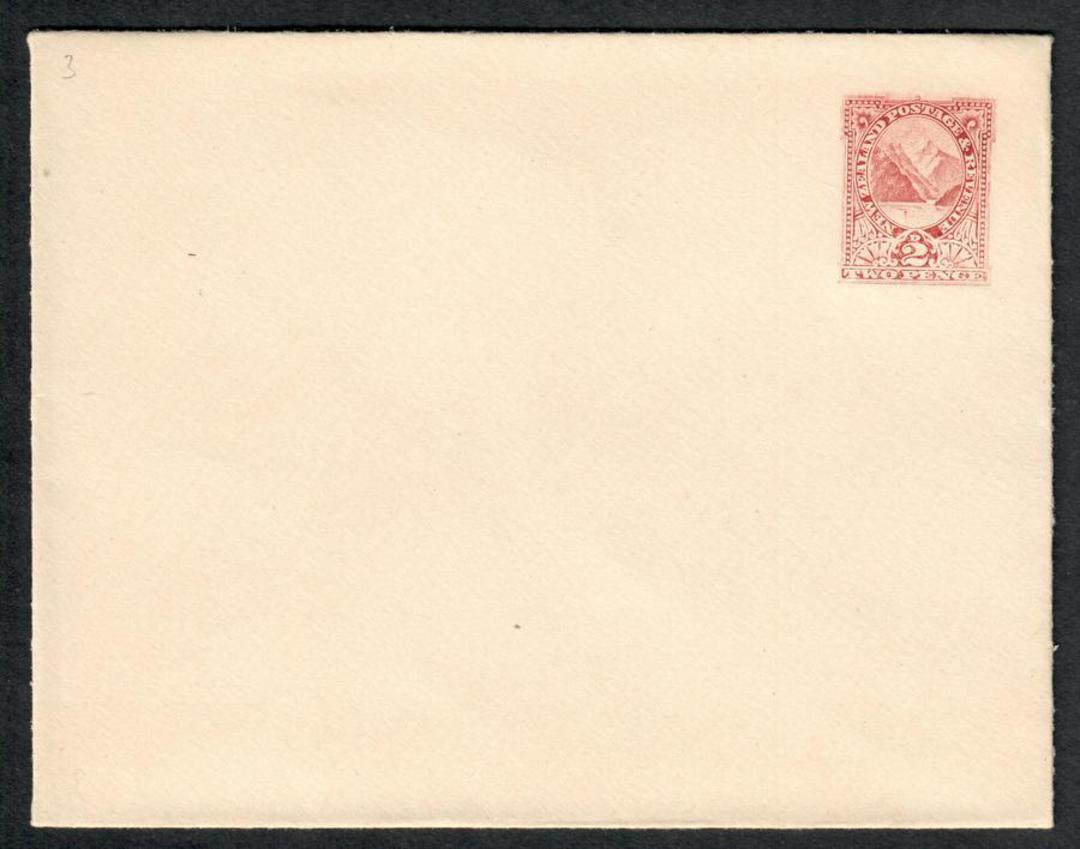 NEW ZEALAND 1898 Postal Stationery ½d 1d and 2d Envelopes in superb mint condition except for display fold on the 1d. - 100850 - image 2