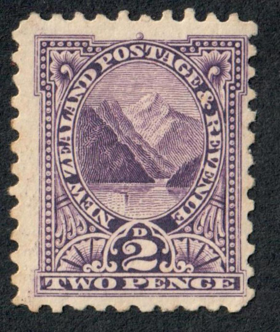 NEW ZEALAND 1898 Pictorial 2d Dull Violet. Perf 11. CP E6a(1). - 74161 - Mint image 0