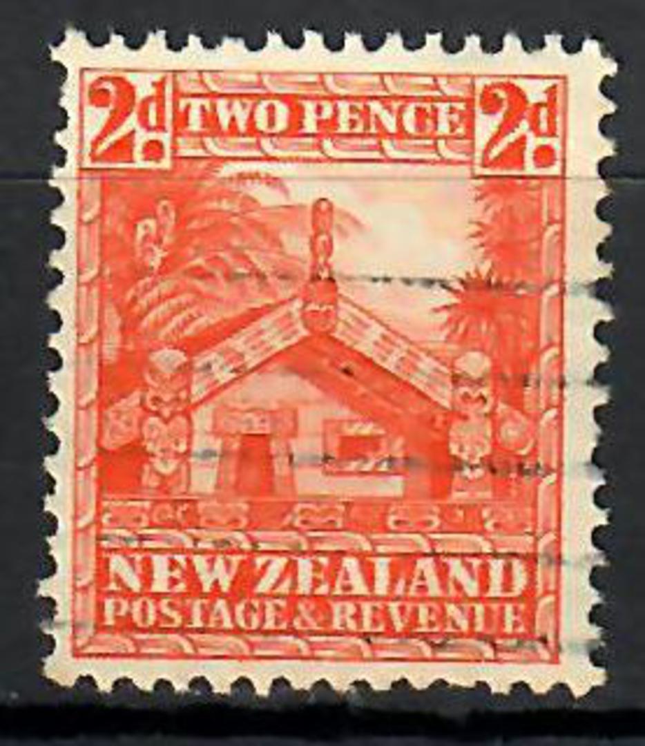 NEW ZEALAND 1935 Pictorial 2d Orange. Multi Watermark Inverted. Perf 14x13½. - 74199 - FU image 0