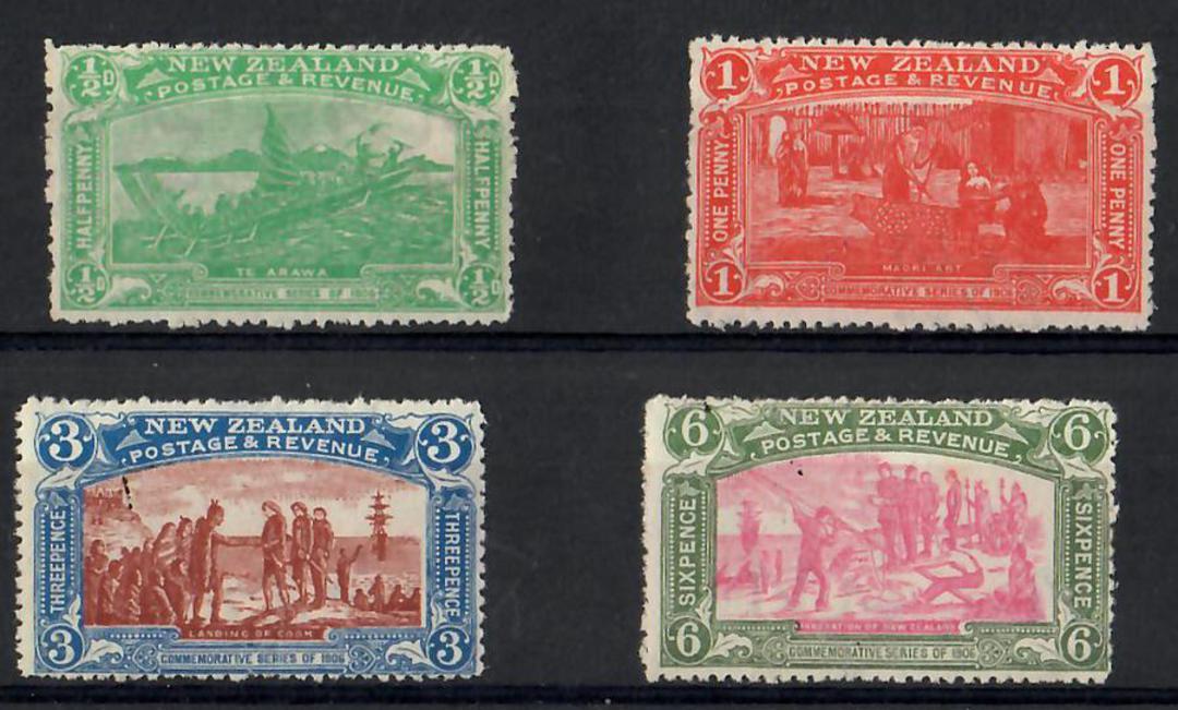 NEW ZEALAND 1906 Christchurch Exhibition. Set of 4. - 26062 - UHM image 0