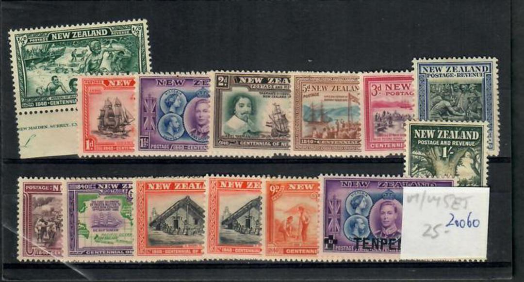 NEW ZEALAND 1940 Centennial. Set of 13. - 20060 - LHM image 0