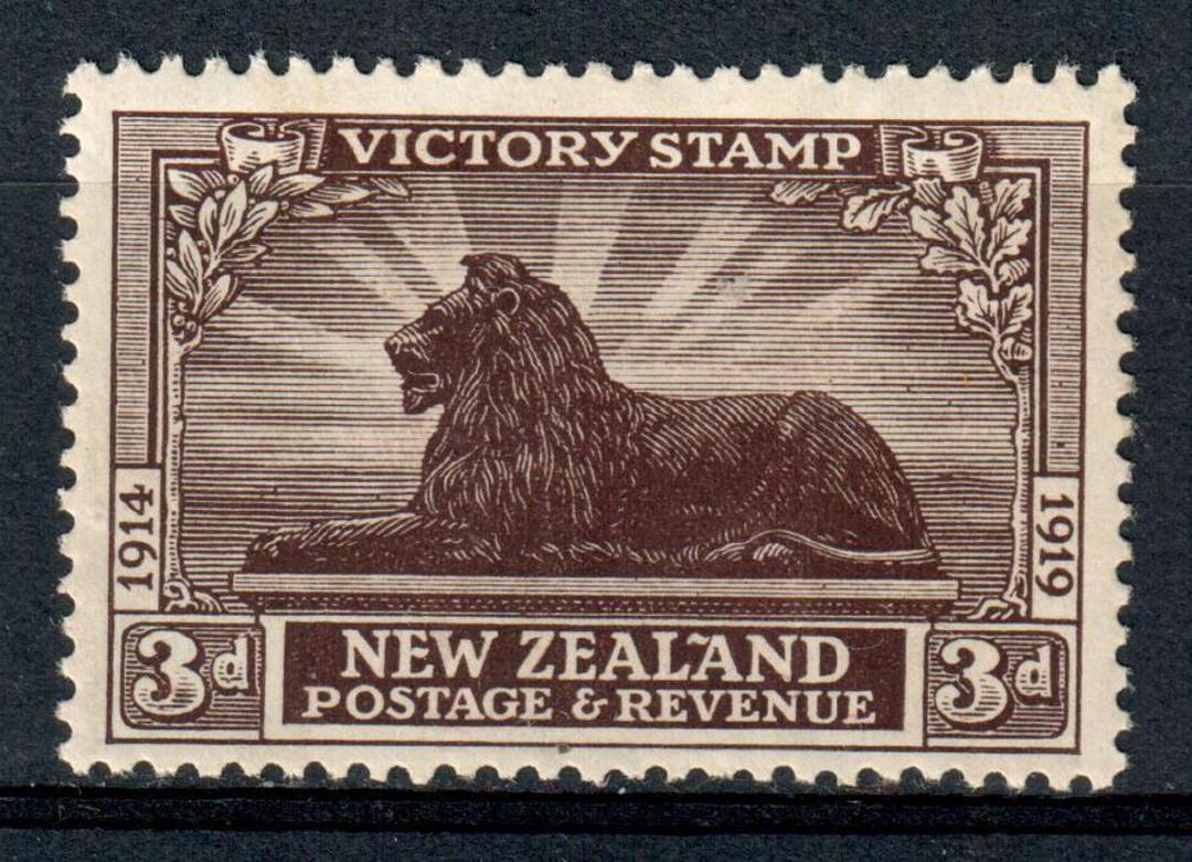 NEW ZEALAND 1920 Victory 3d Chocolate. - 134 - UHM image 0