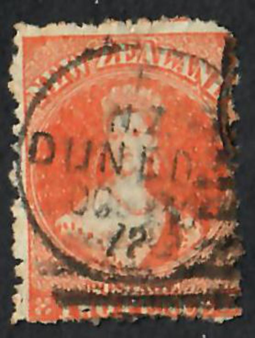NEW ZEALAND 1862 Full Face Queen 2d Orange. Perf 12½. Watermark Large star. Postmark Dunedin 30/10/1872. - 74958 - Used image 0