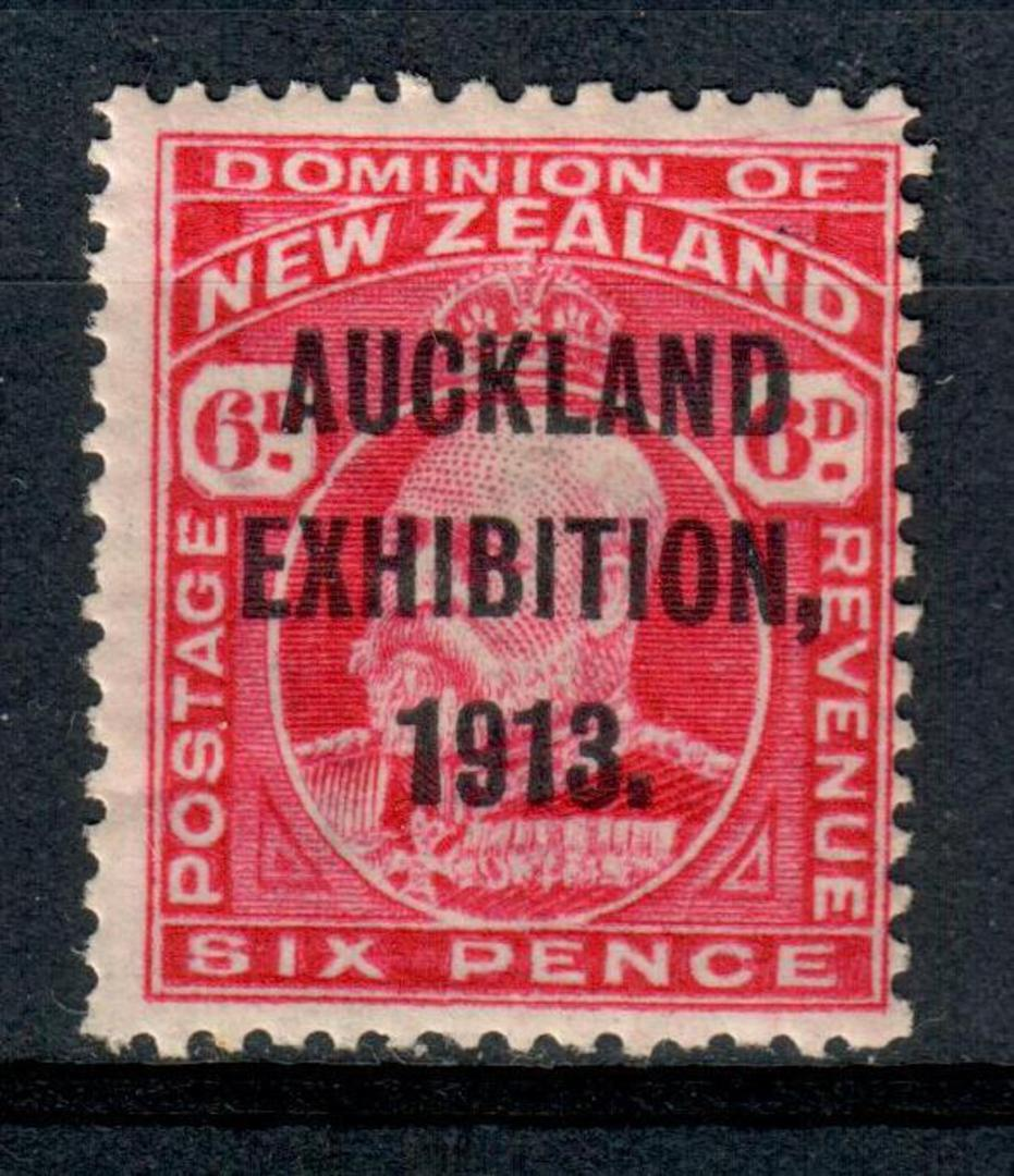 NEW ZEALAND 1913 Auckland Exhibition 6d Red. - 3655 - LHM image 0
