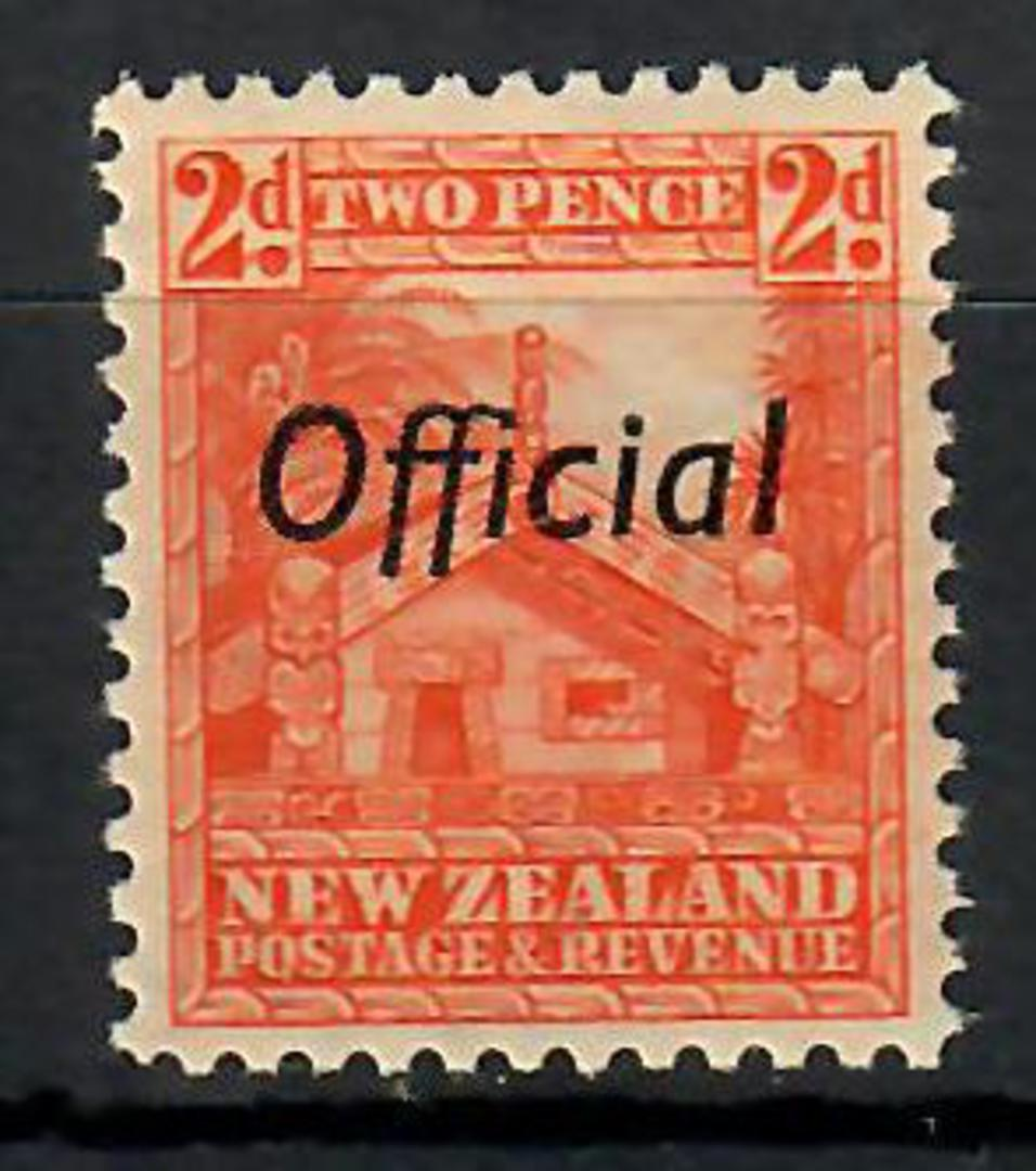 NEW ZEALAND 1935 Pictorial Official 2d Whare. Perf 12½. - 70467 - UHM image 0