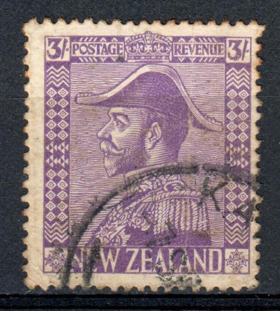 NEW ZEALAND 1926 Geo 5th Admiral 3/- Mauve. Nice copy. - 75137 - Used image 0