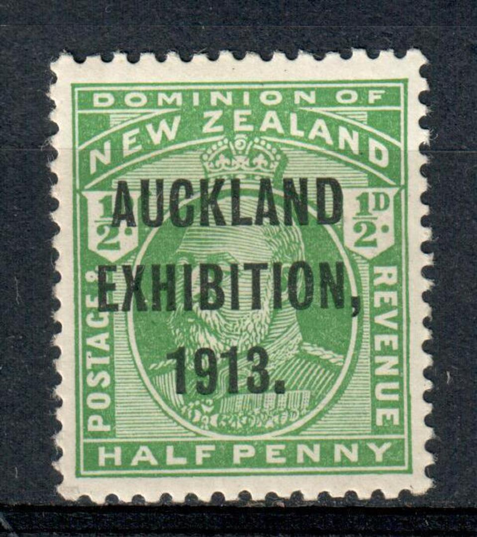 NEW ZEALAND 1913 Auckland Exhibition ½d Green. Very lightly hinged. - 39997 - LHM image 0