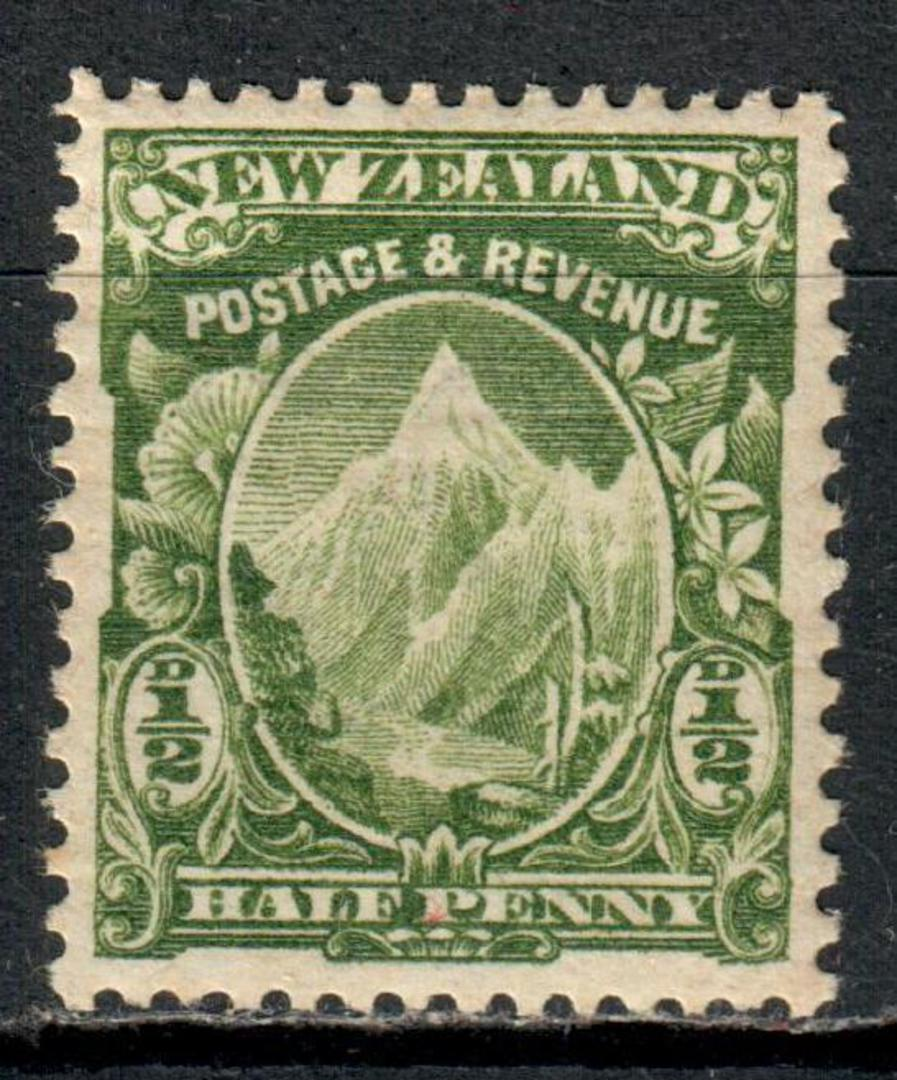 NEW ZEALAND 1898 Pictorial ½d Mt Cook Green. - 55 - UHM image 0