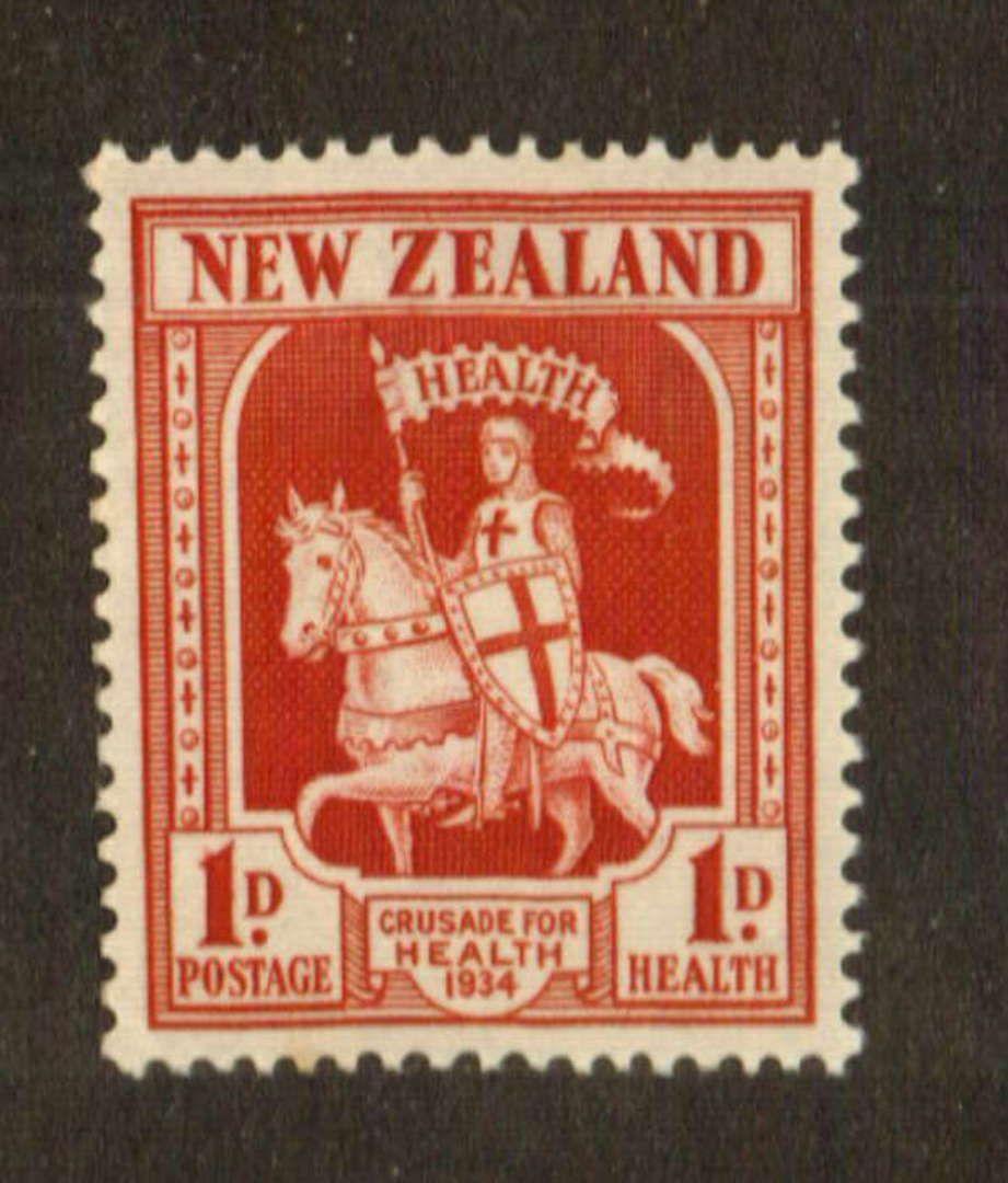 NEW ZEALAND 1934 Health Crusader. Slight toning. - 74737 - UHM image 0
