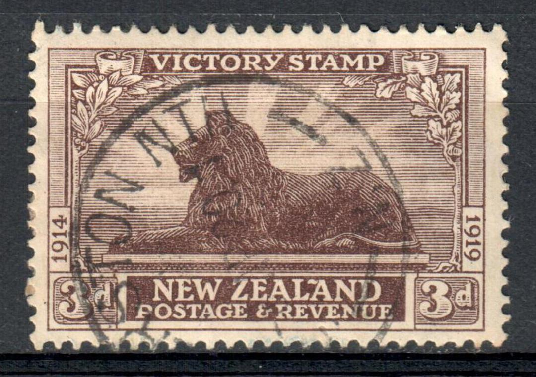 NEW ZEALAND 1920 Victory 3d Brown. - 10134 - FU image 0
