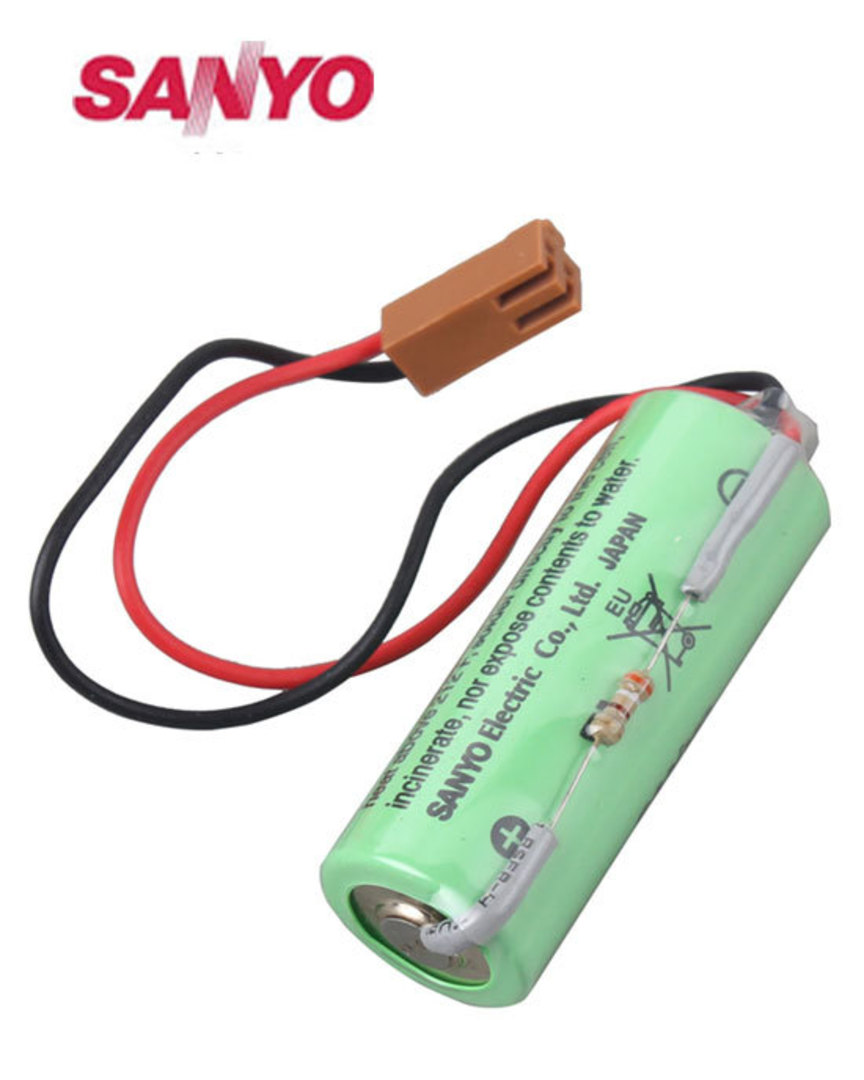 SANYO CR17450SE-R 3V PLC Battery with Plug For FANUC A98L-0031-0012 image 0