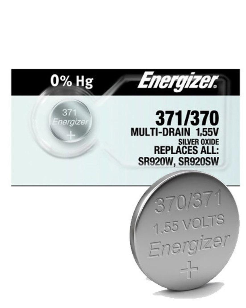 ENERGIZER 370 371 SR920SW SR920W Watch Battery image 0