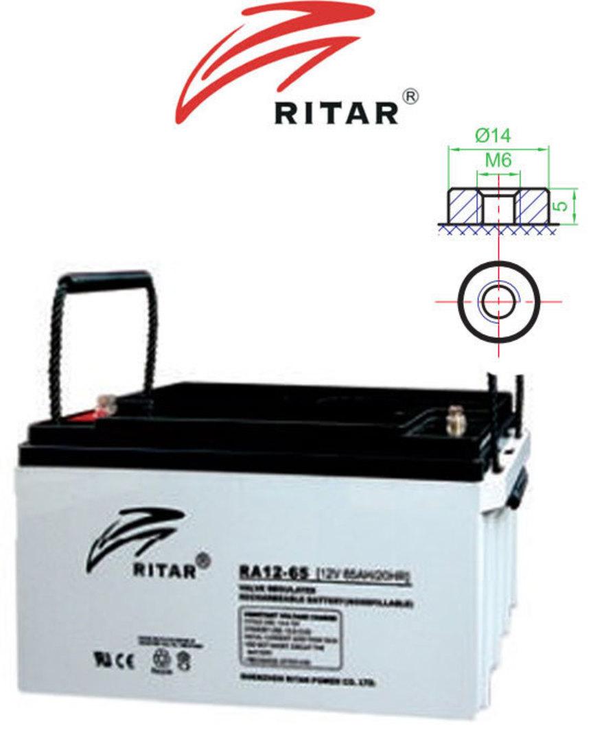 RITAR RA12-65 12V 65AH SLA battery image 0