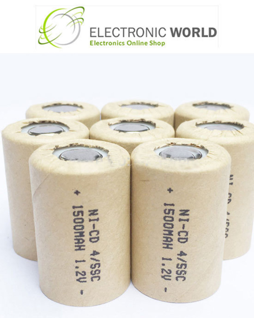 4/5 SC SUB-C Size Ni-CD Rechargeable Battery image 0