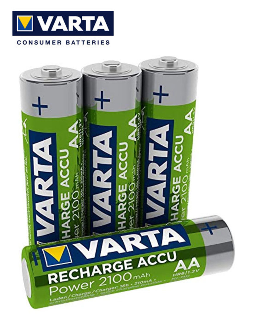 VARTA AA 2100mAh Pre-Charged NiMH Rechargeable Battery image 1