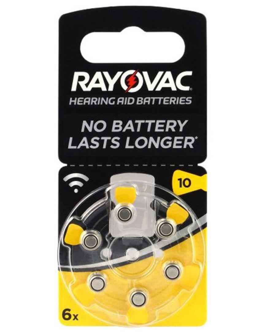 RAYOVAC Size 10 PR70 Hearing Aid Batteries image 0