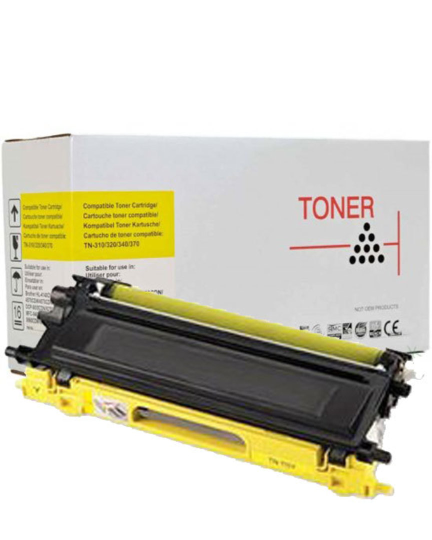 Compatible Brother TN340 Yellow Toner Cartridge image 0