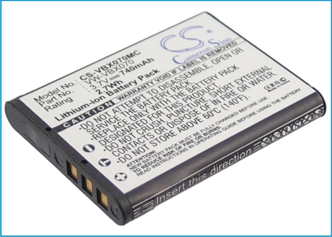 PANASONIC VW-VBX070 Compatible Battery image 0