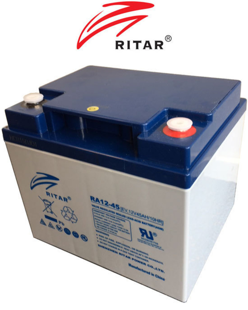 RITAR RA12-45EV 12V 45AH Deep Cycle SLA Battery image 0