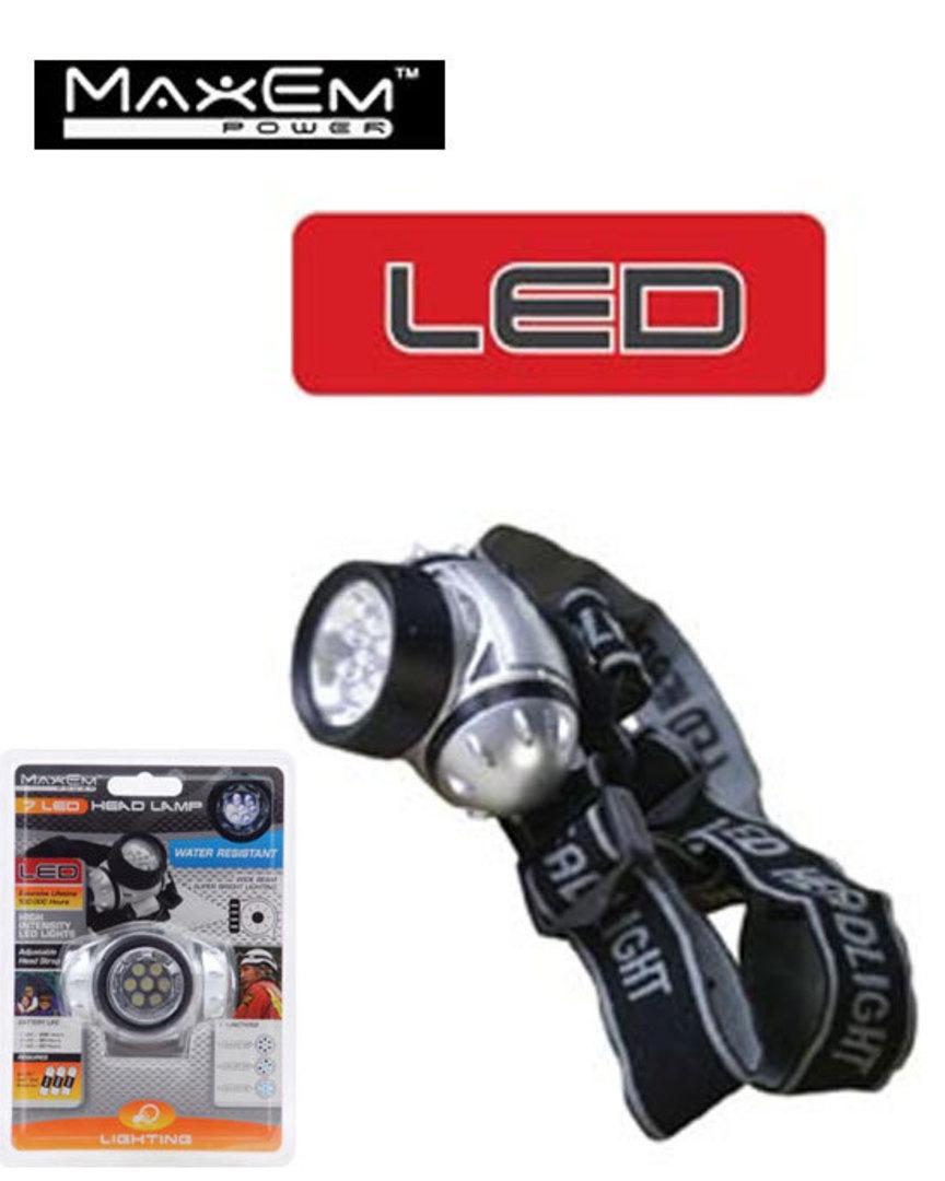 MAXEM 7 LED Head Lamp 2PCS image 0