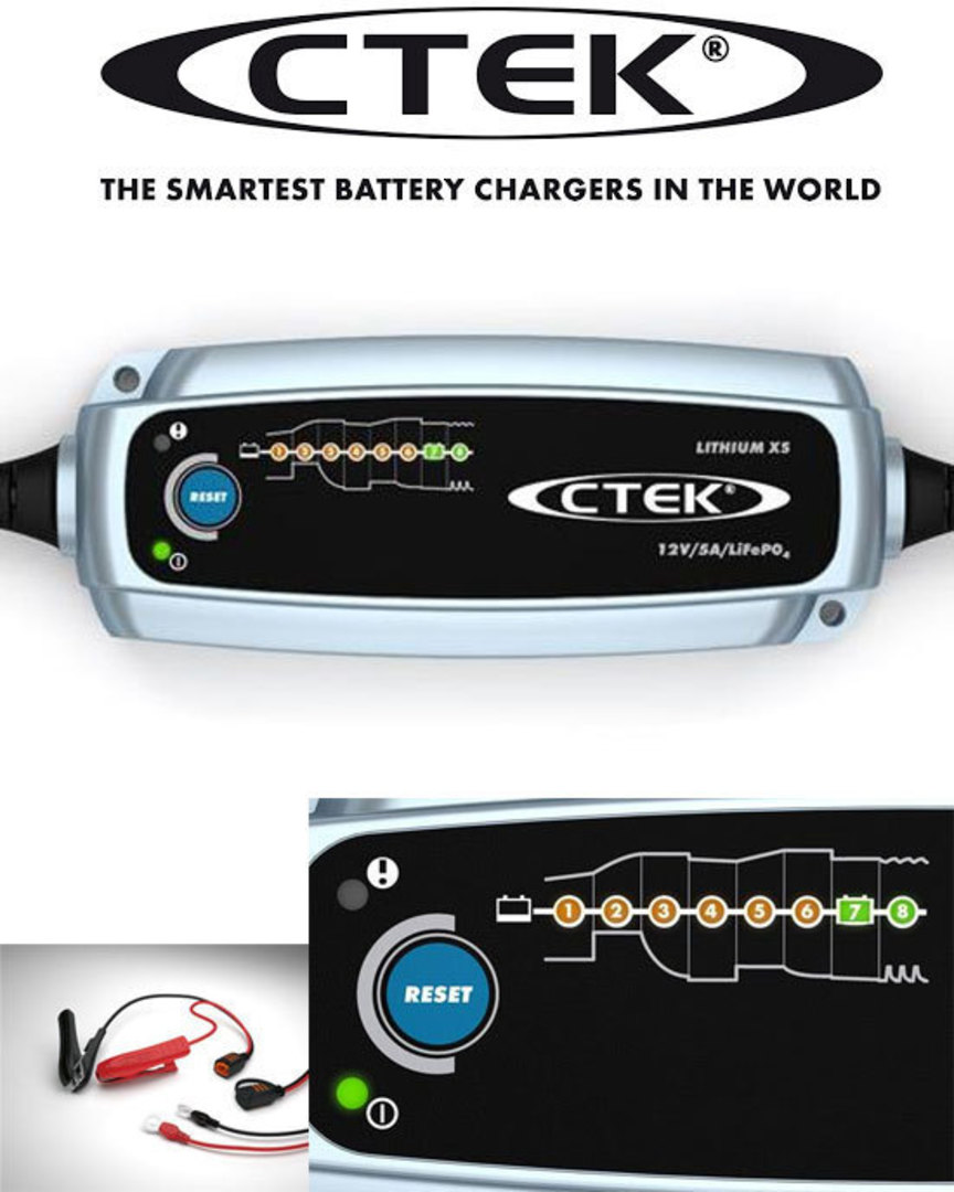 CTEK Lithium XS LiFePo4 5AMP charger image 0