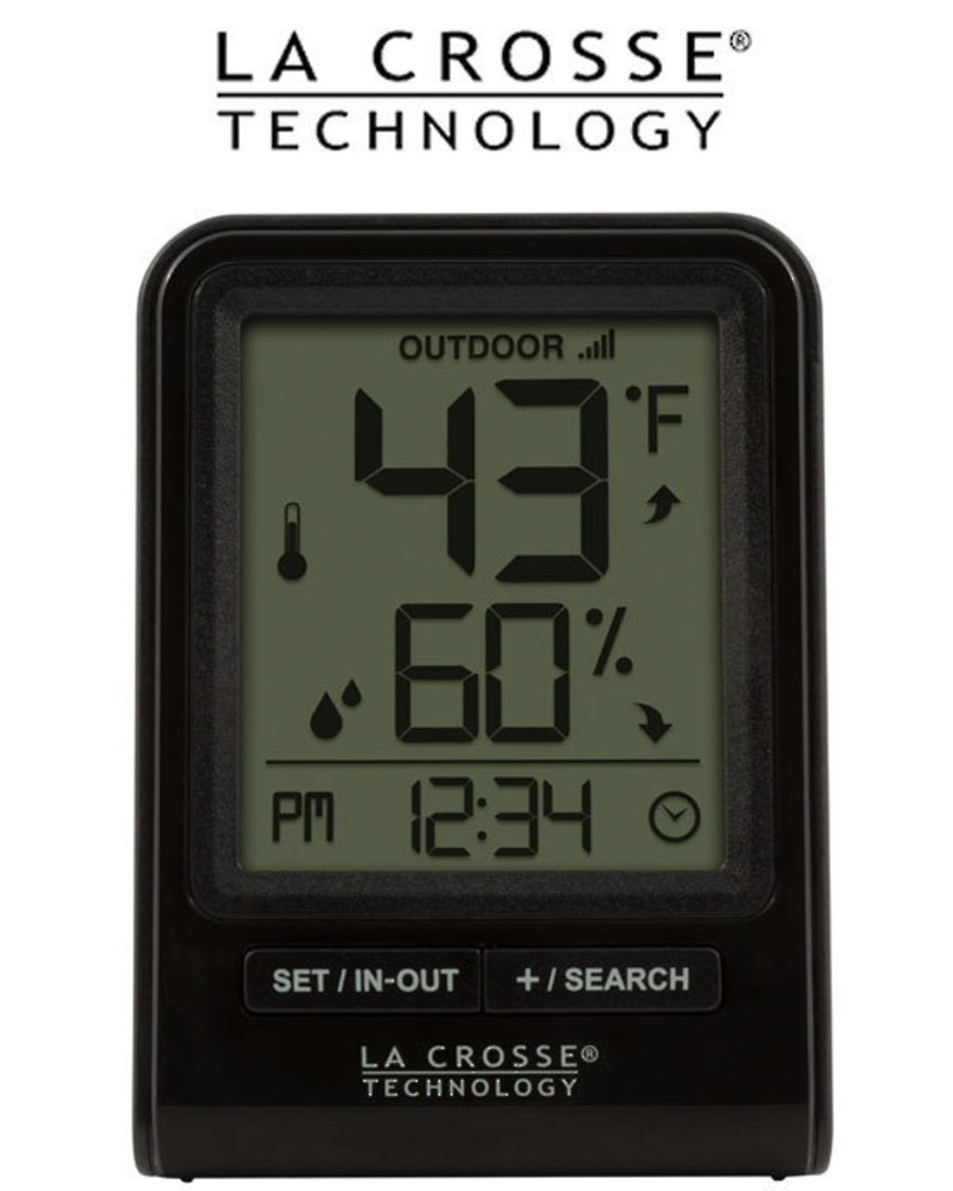 M82738V2 La Crosse Wireless Thermometer with Humidity Combo image 1