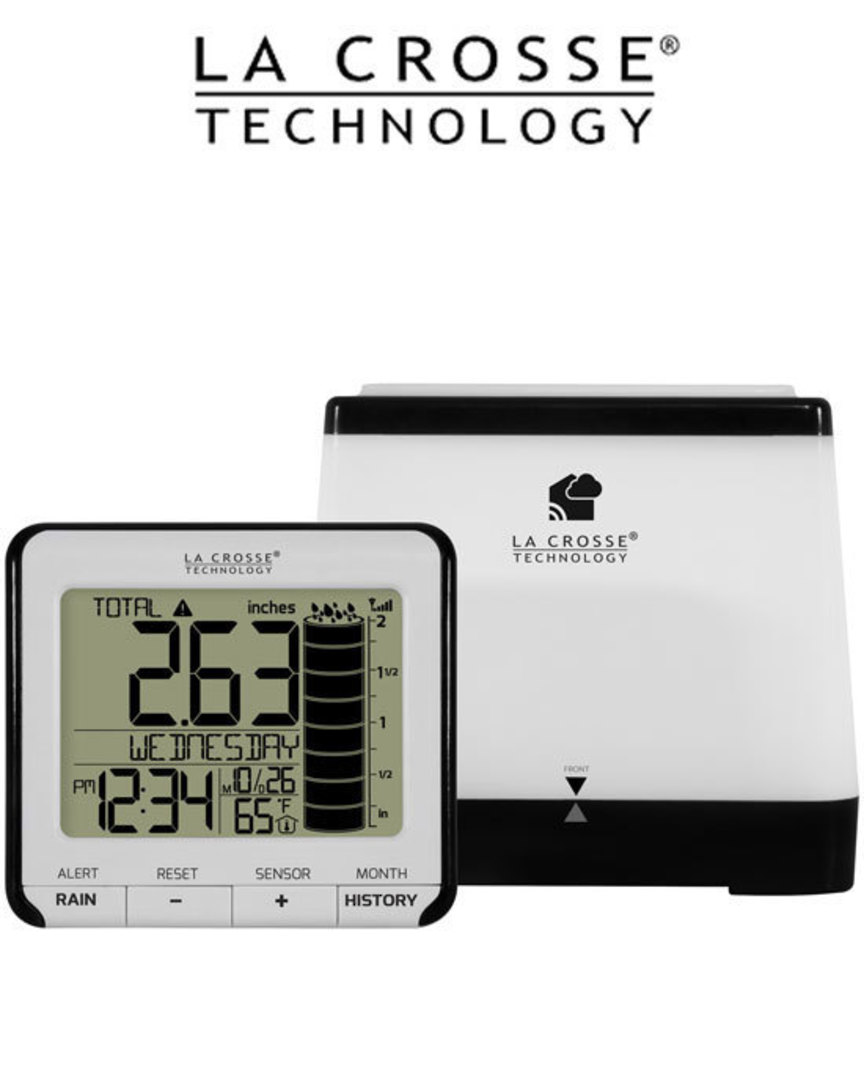 724-2310 Digital Rain Monitor with Indoor Temperature image 0