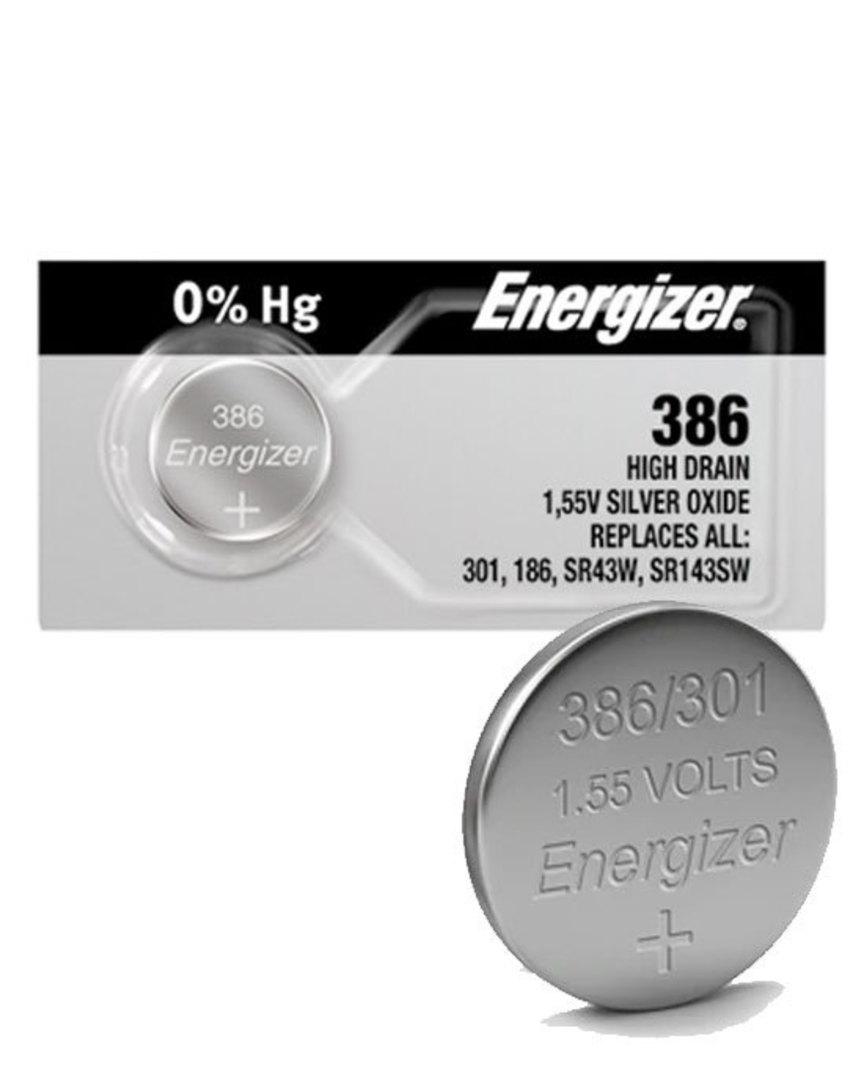 ENERGIZER 386 301 SR43W SR43SW Watch Battery image 0