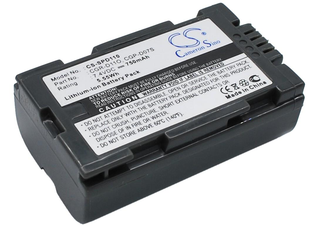 PANASONIC CGP-D07S, CGR-D11O Compatible Battery image 0