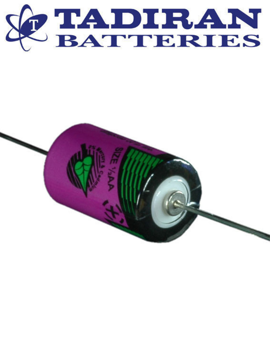 Tadiran TL-5902 (P) 1/2AA 3.6V Lithium with Axial Leads image 0