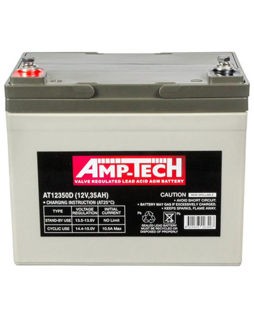 AMPTECH AT12350D 12V 35AH Deep Cycle SLA Battery image 0