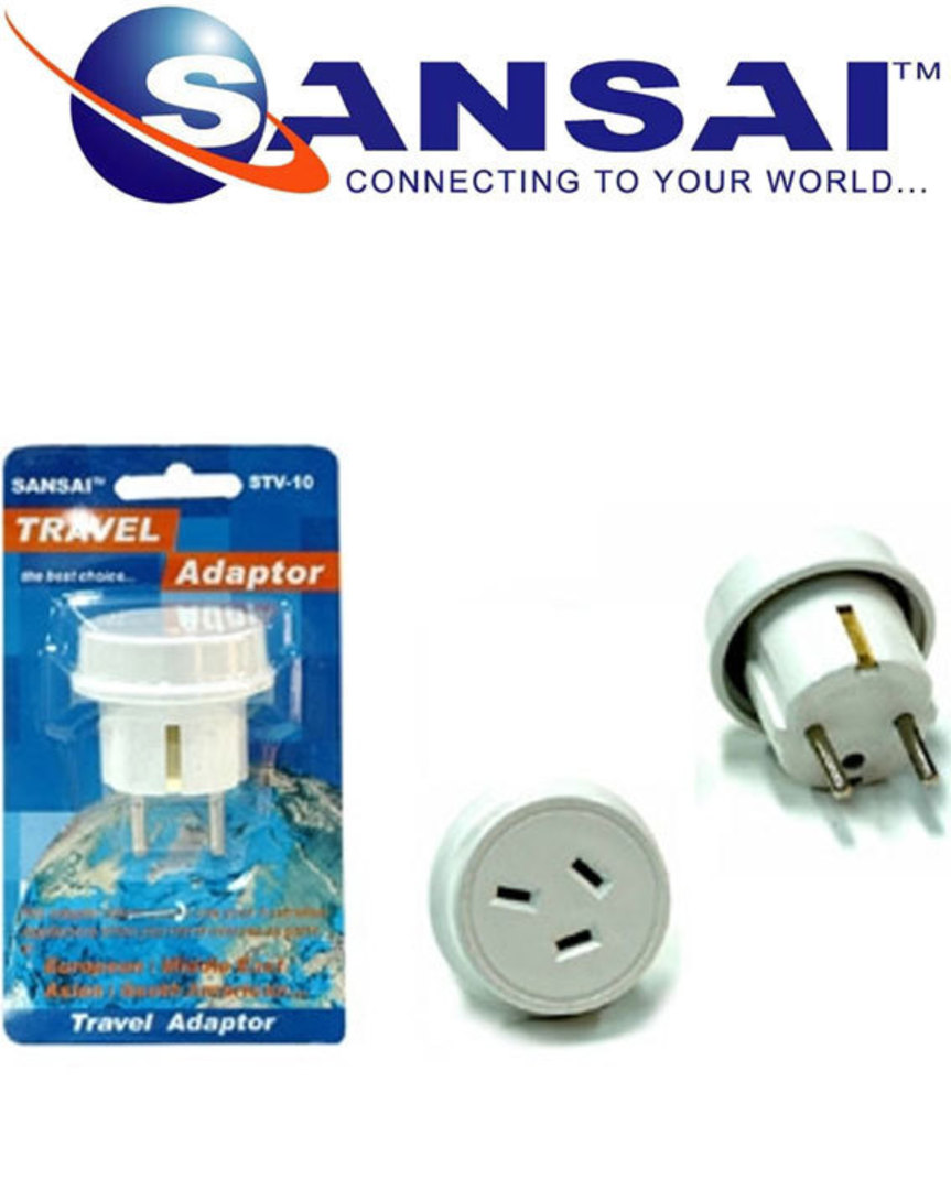 SANSAI Travel Adaptor for NZ/AUS to Europe and Middle East Asia image 0